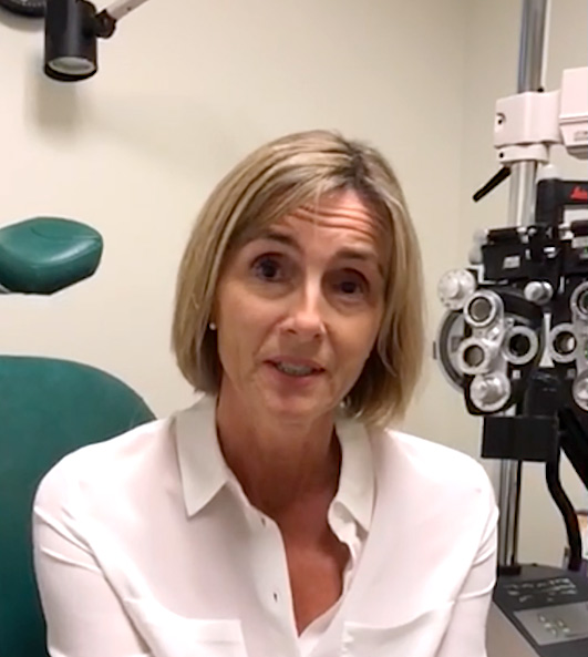 A Visionary Eye Doctor patient in an eye exam room